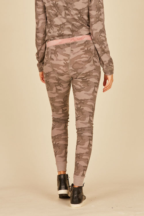 Grey/Pink Camo Thermal Lounge Pants