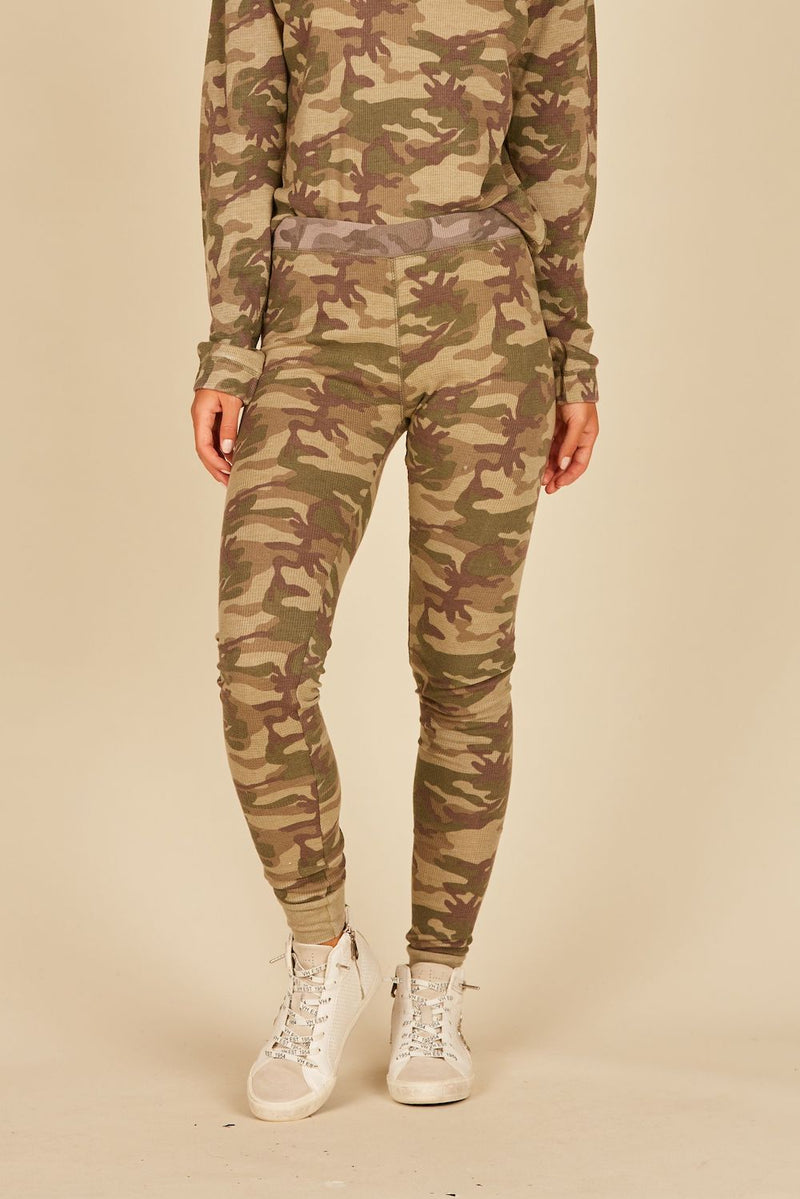 Green/Grey Camo Thermal Lounge Pants