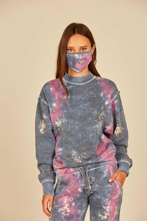 Midnight/Magenta Galaxy Tie Dye Face Mask - 3 Pack