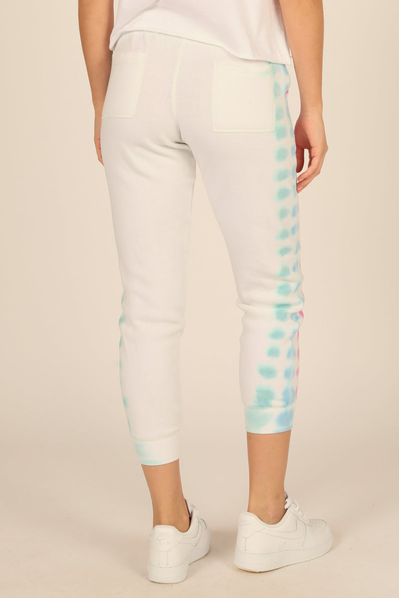Bright Tie Dye Burnout Joggers