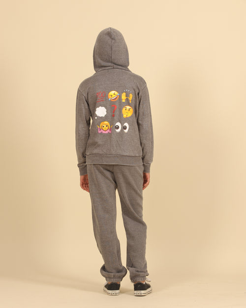 LOL/OMG/IDK Patch Burnout Full Zip Hoody