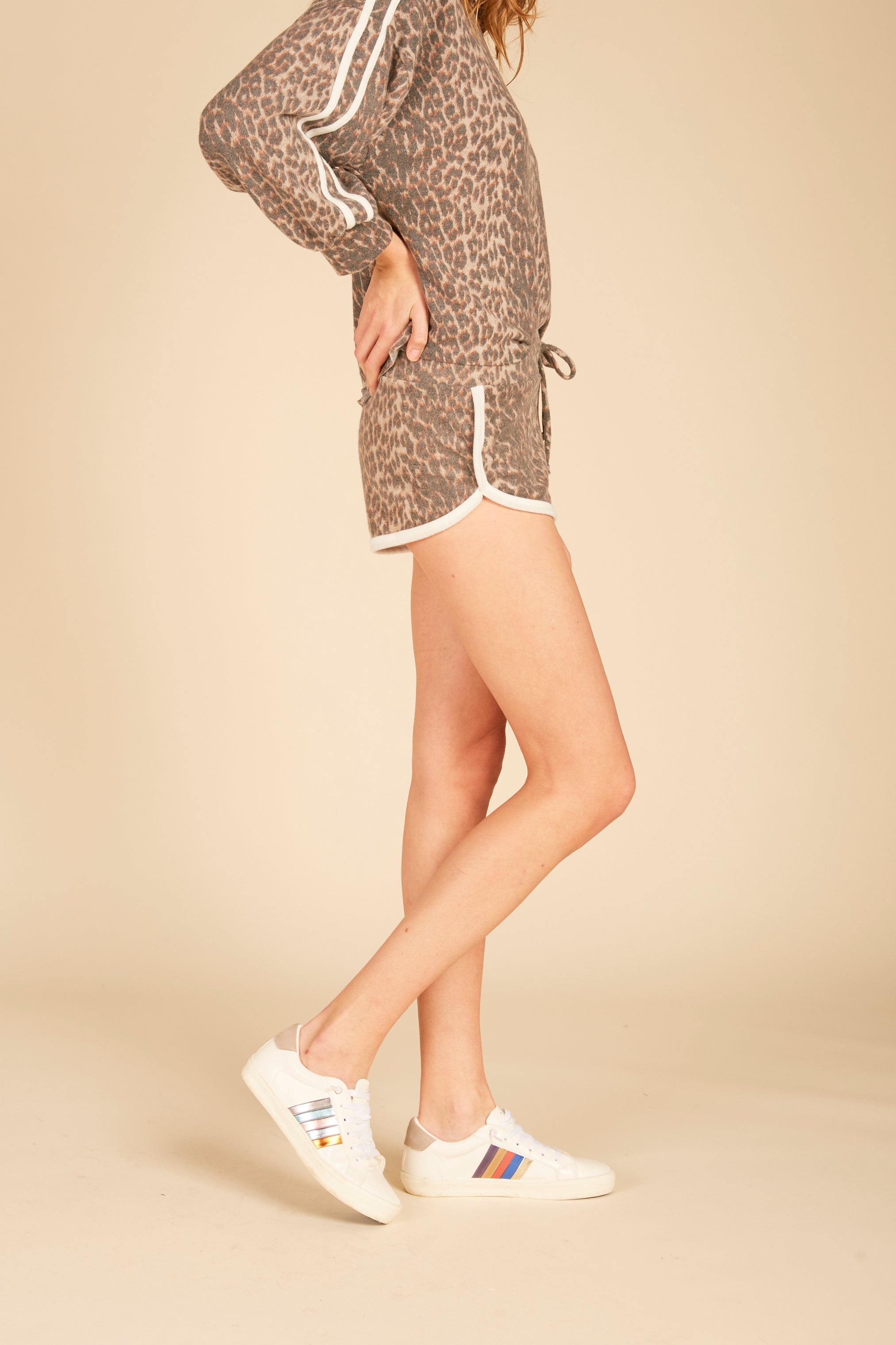 Leopard Piping Shorts