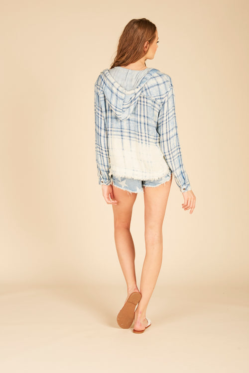Paige Plaid Boxy Crop Hoody
