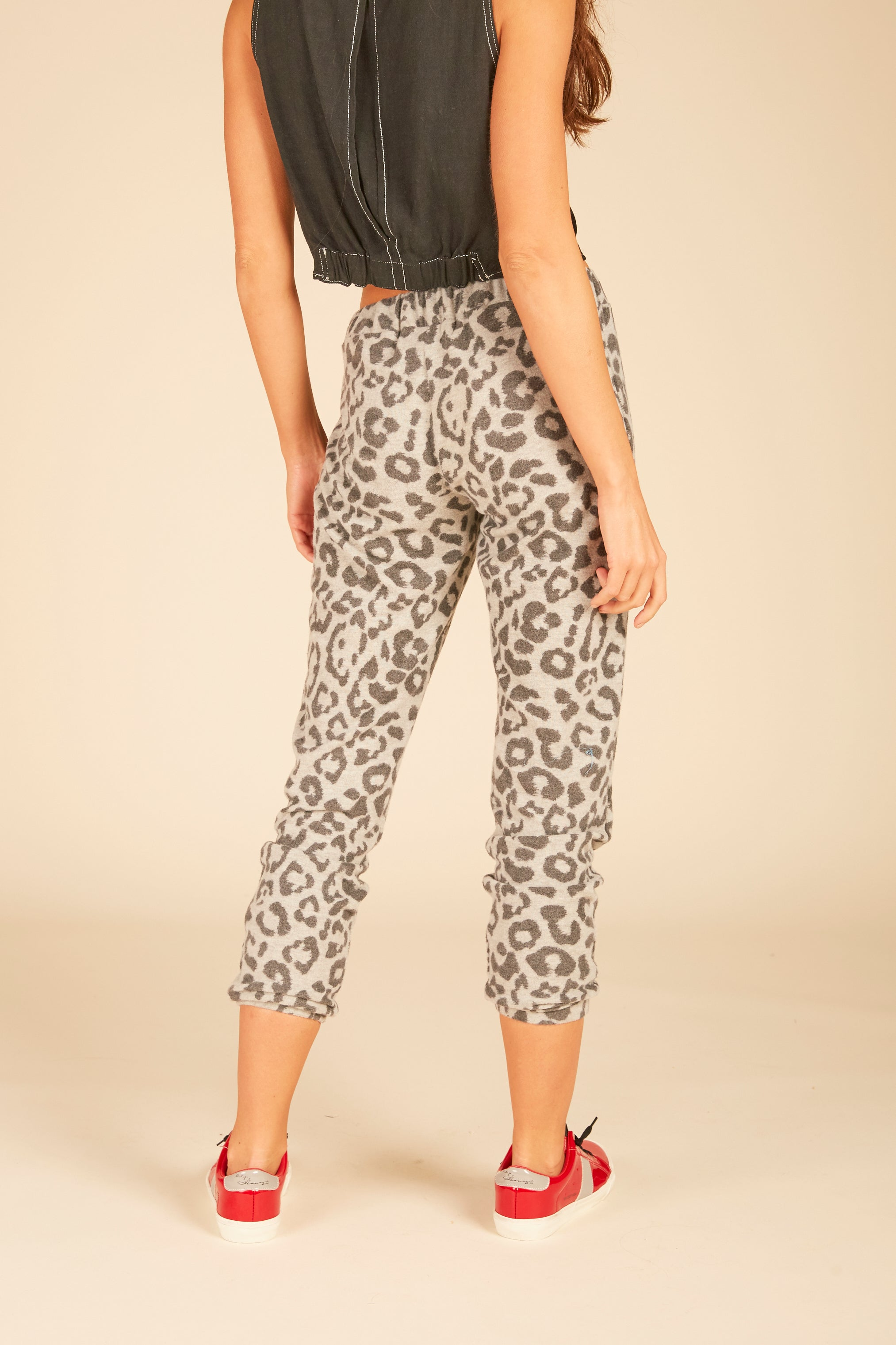 Grey Leopard Basic Jogger