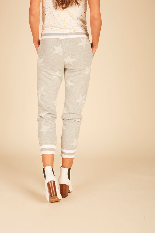 White Stars Burnout Jogger