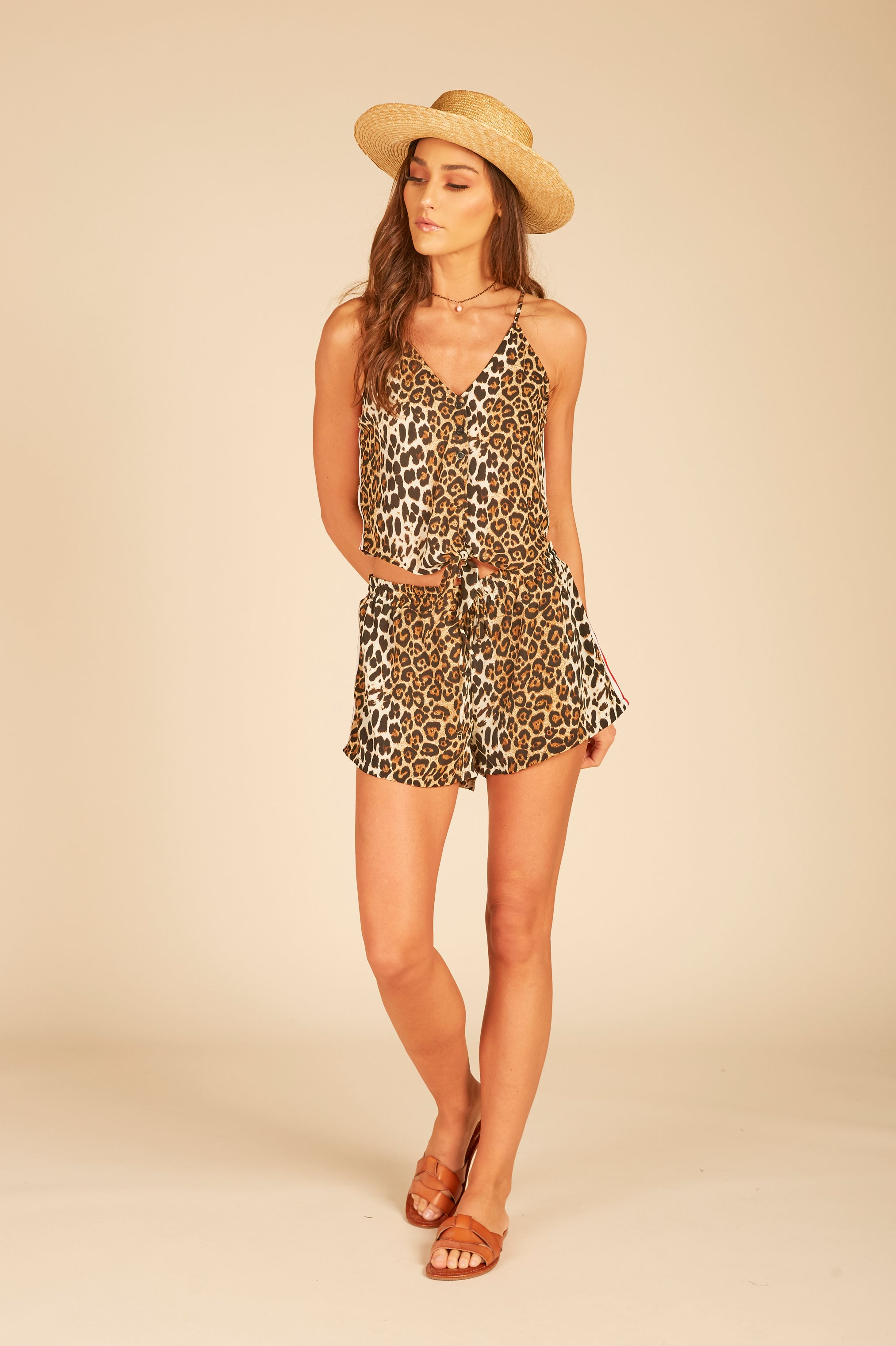 Leopard Crop Tank Top