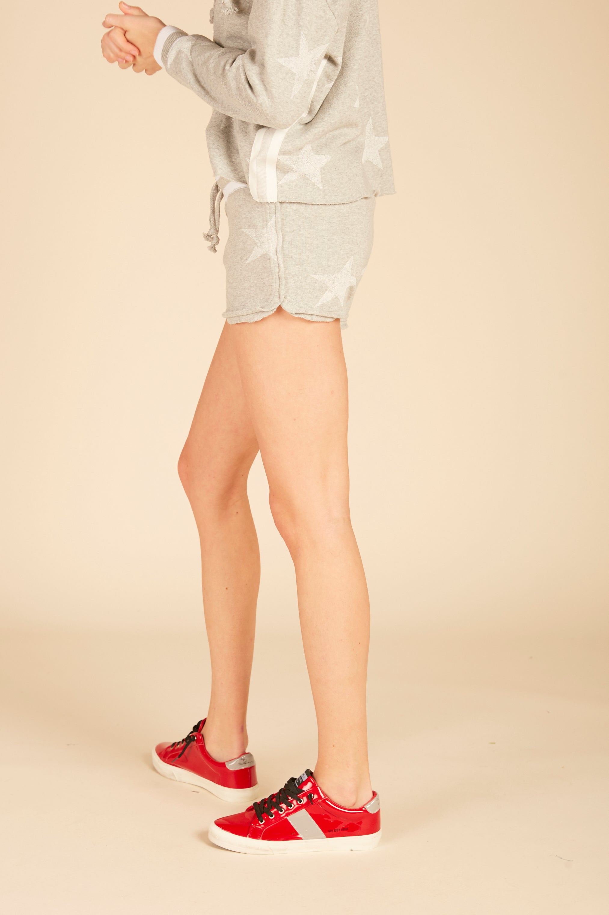 White Stars Burnout Shorts