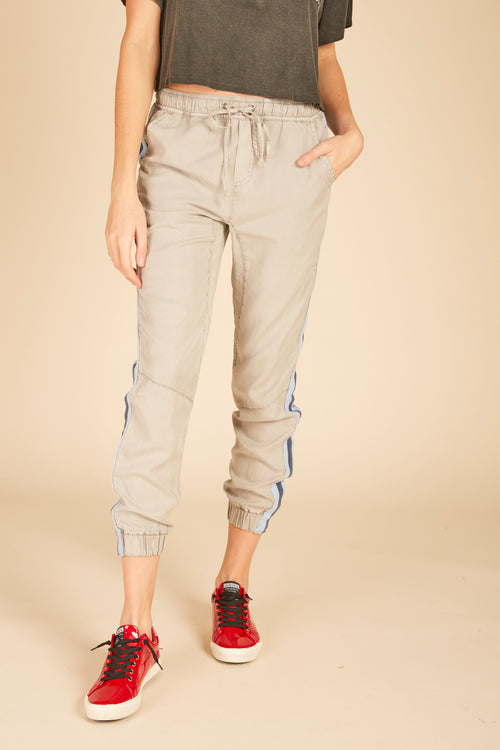 Light Grey Washed Tencel Pant