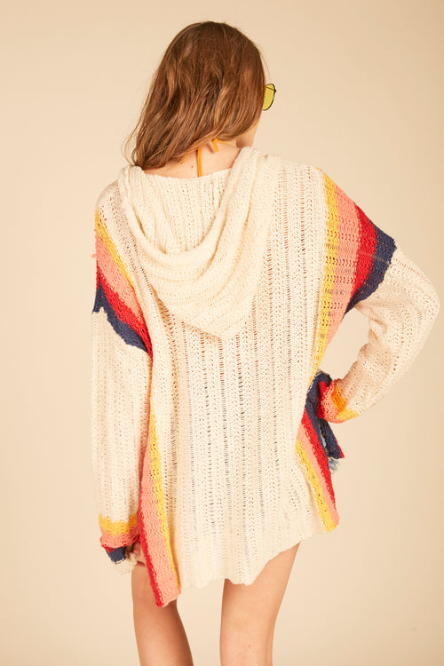 Retro Stripe Baja Sweater