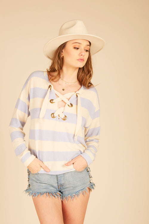 Chunky Stripe Grommet Top
