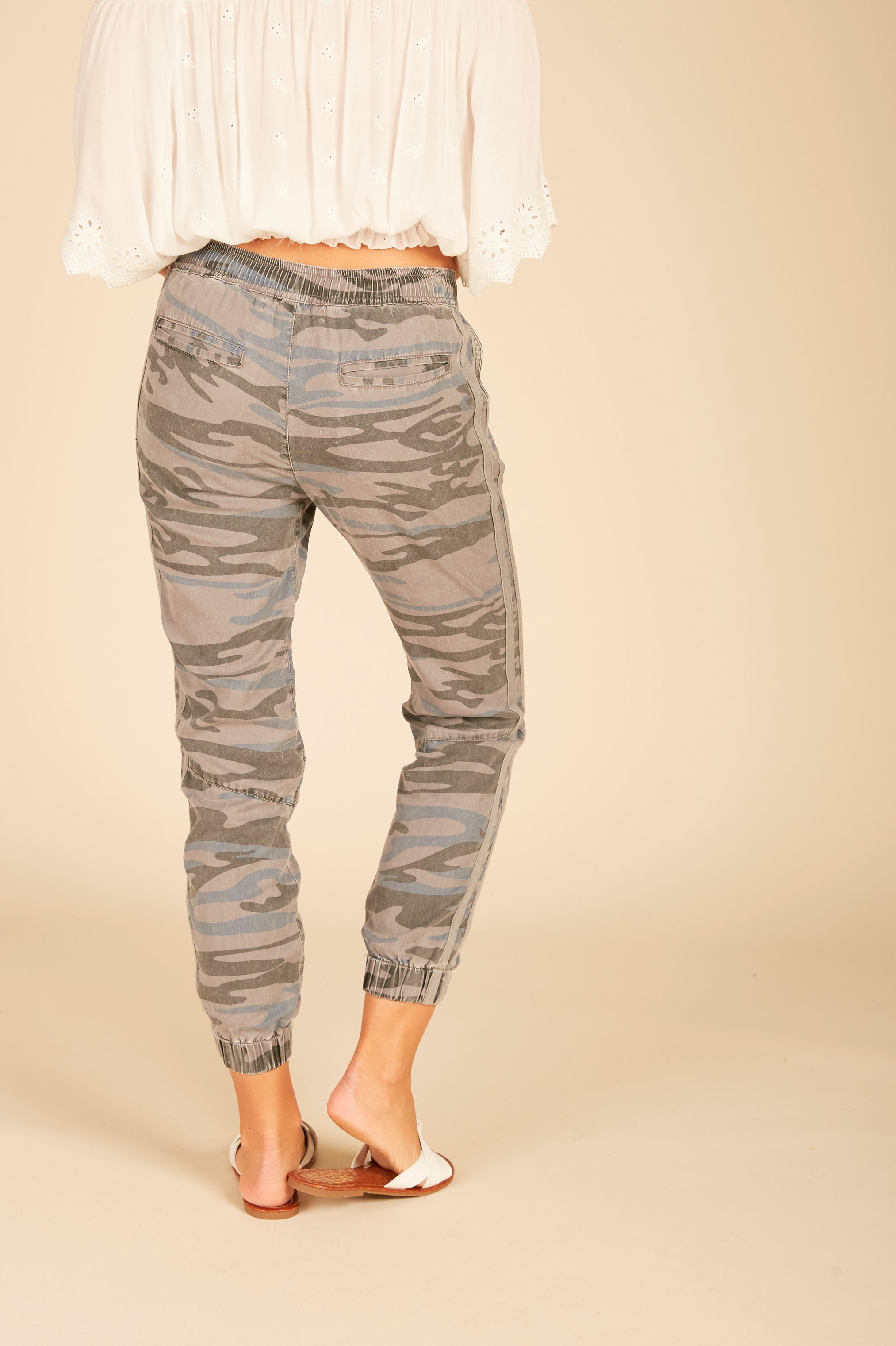 Camo Tencel Cargo Pants