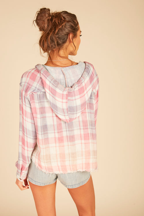 Delilah Plaid Boxy Crop Hoody