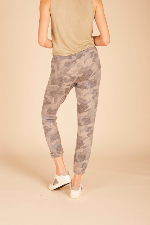 Brushed Hacci Camo Joggers