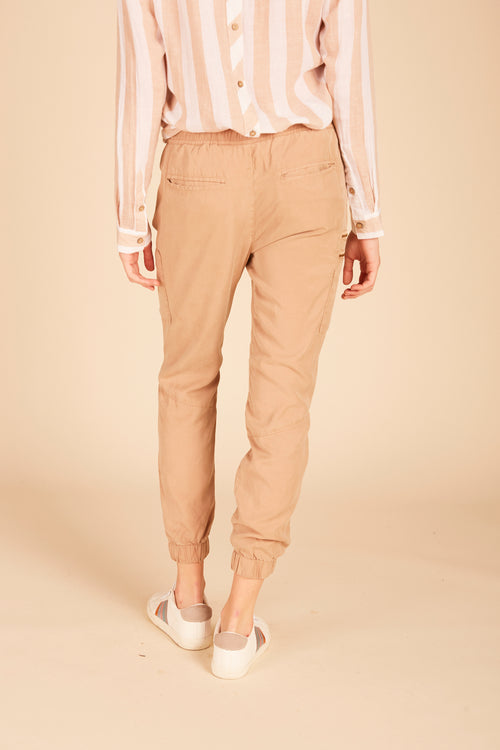 Nude Tencel Cargo Pants