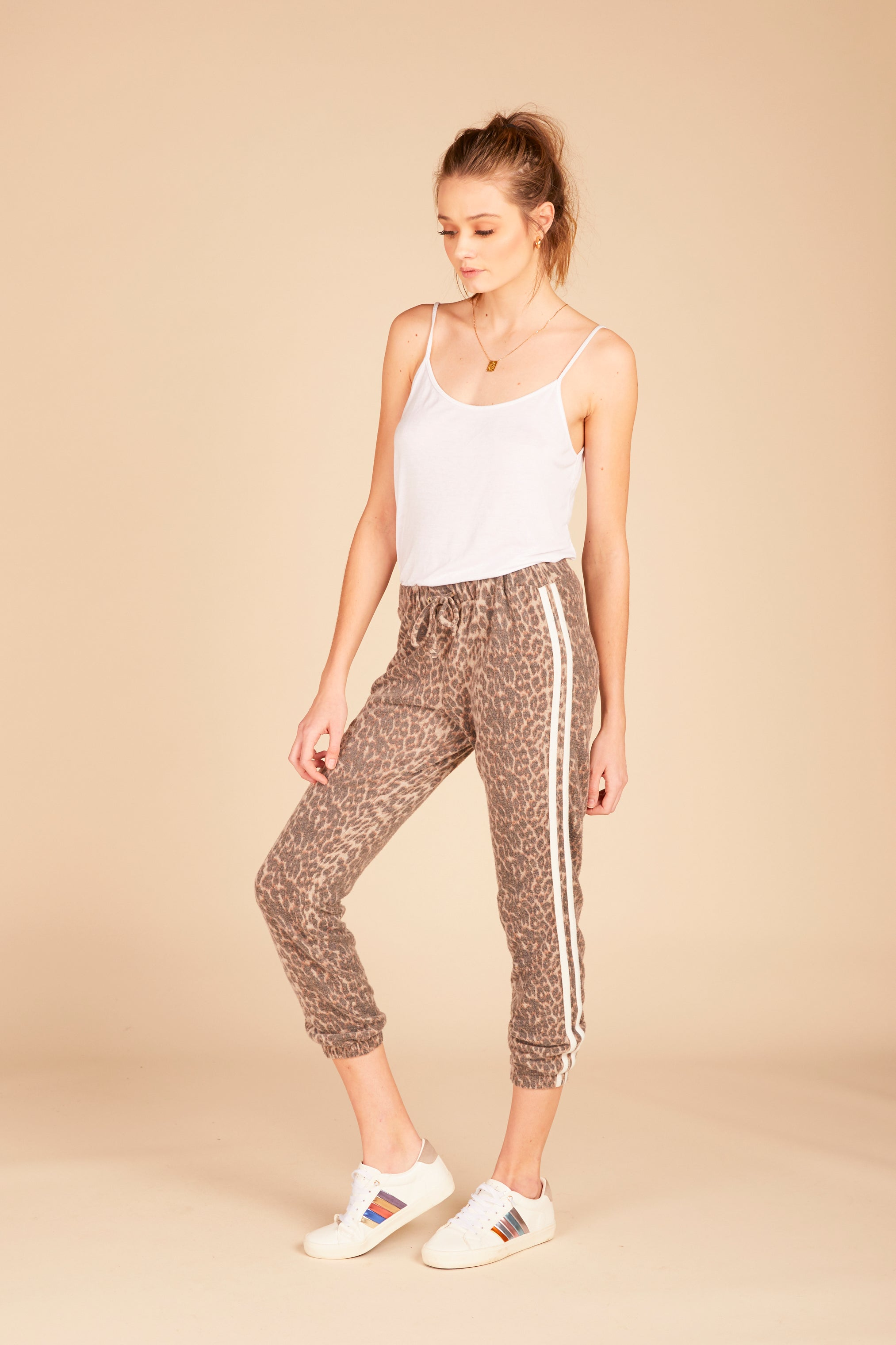 Brown Leopard Jogger Pant