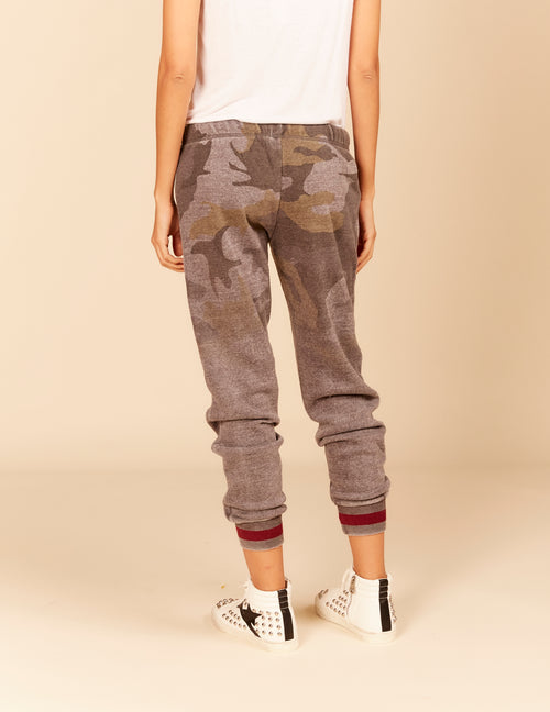 Stripe Rib New Burnout Sweatpants