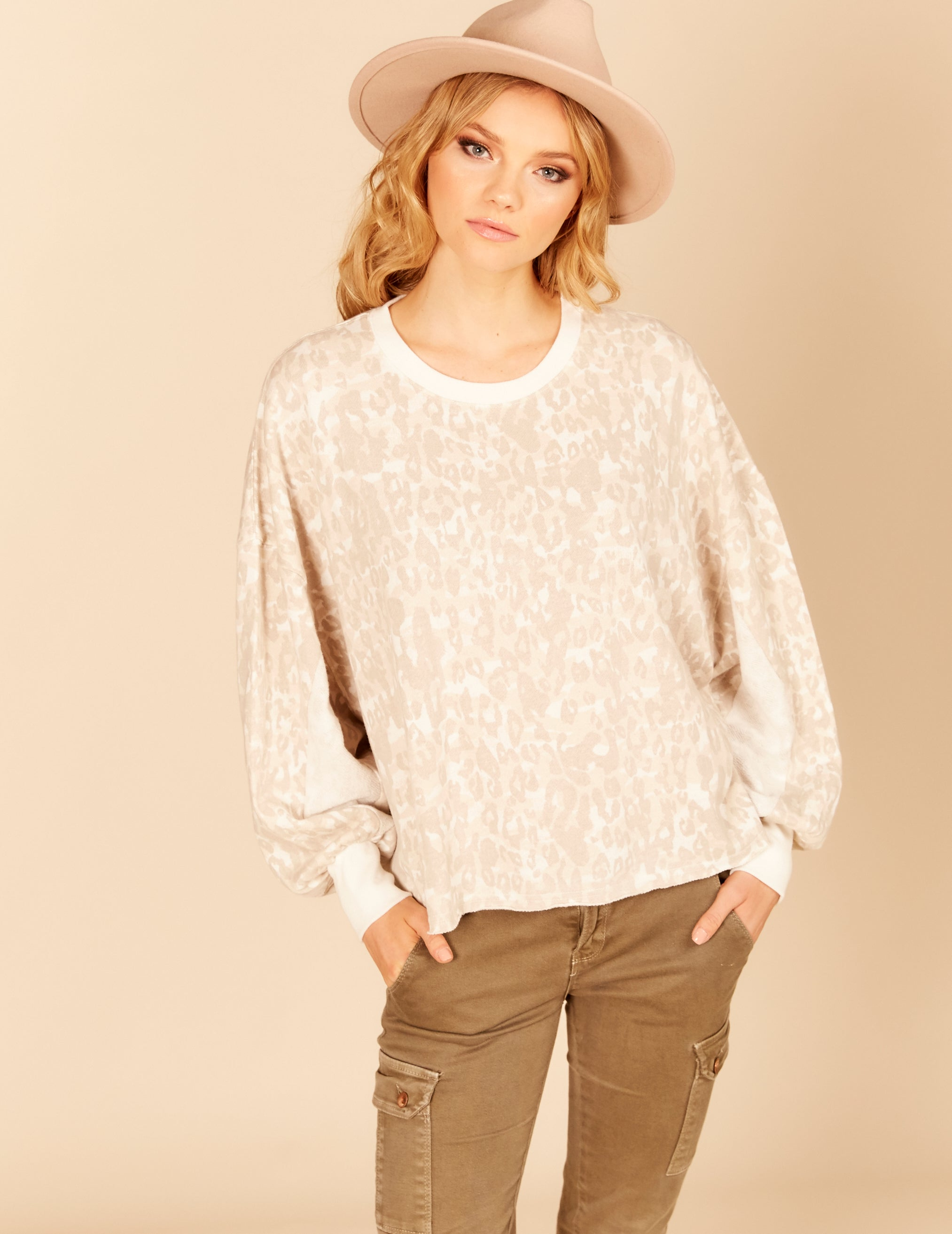 Balloon Sleeve Boxy Top