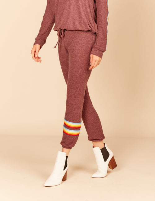 Retro Stripe Brushed Hacci Jogger Pants