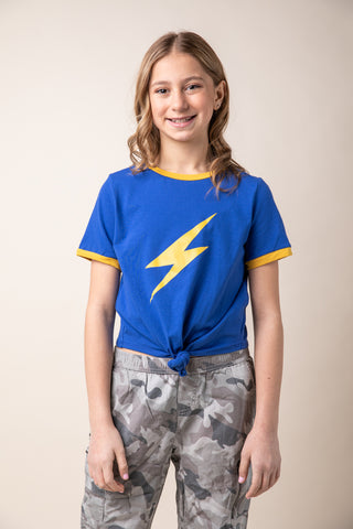 Rainbow Lightning Bolt Front & Back Graphic Top