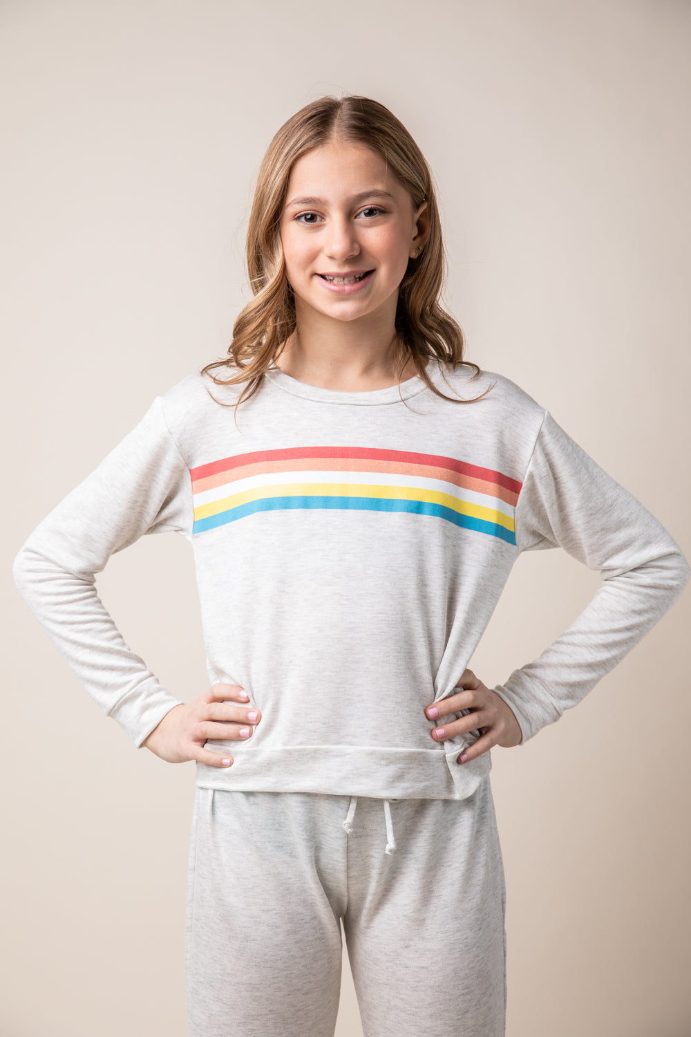 MULTI STRIPE CREWNECK