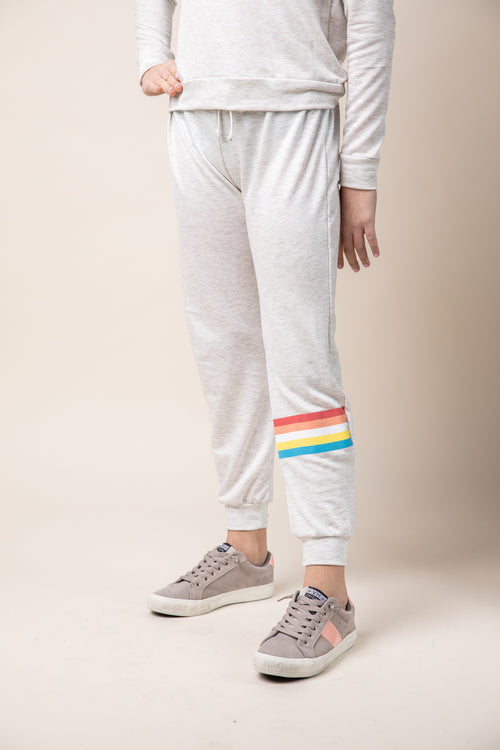 JOGGER WITH ANKLE STRIPE