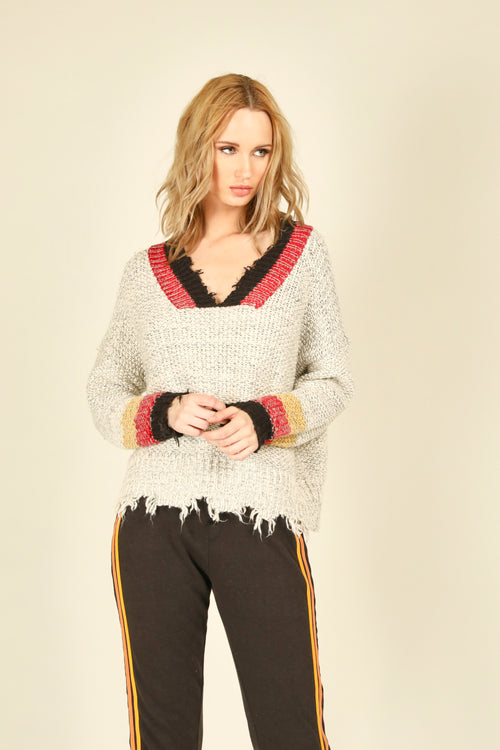 Destroyed Chunky Knit Sweater