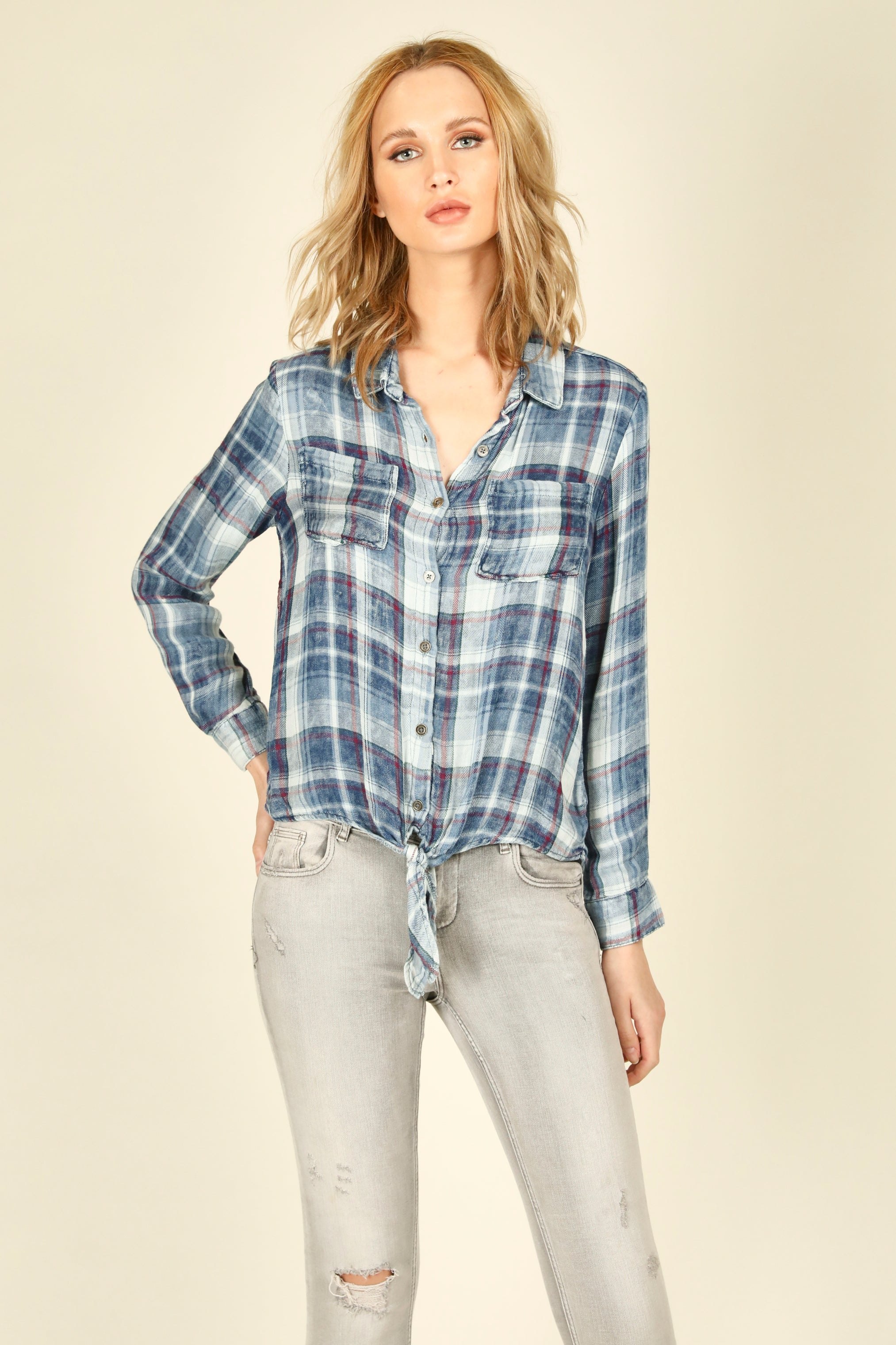 Tibi Plaid Combo Shirt