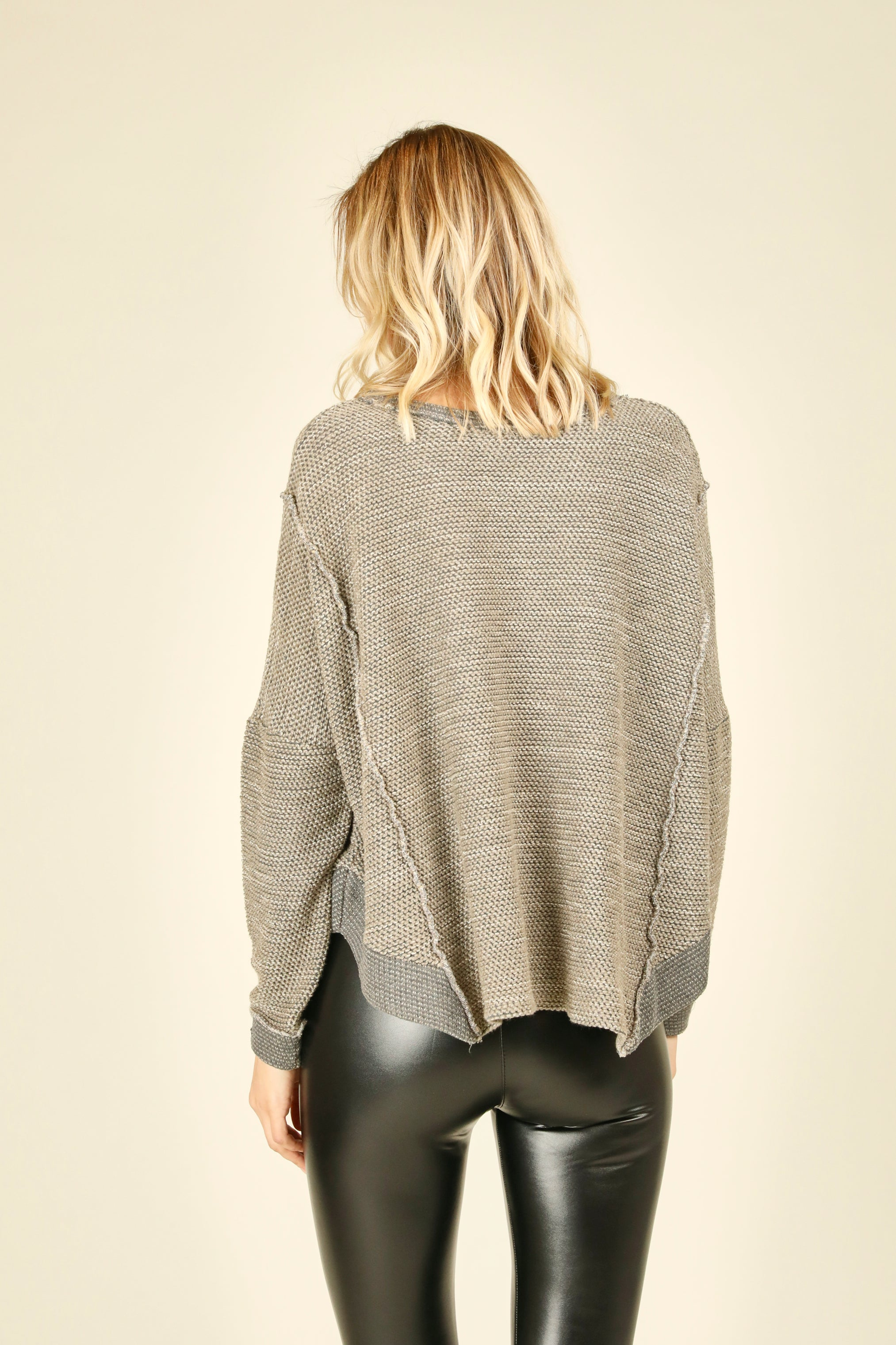 Heather Grey Texture Sweater