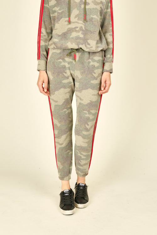 Camo & Red Stripe Joggers