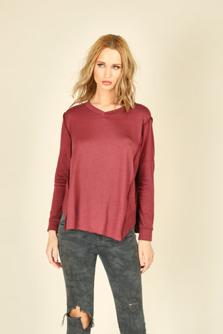 Brushed Thermal Criss Cross Top