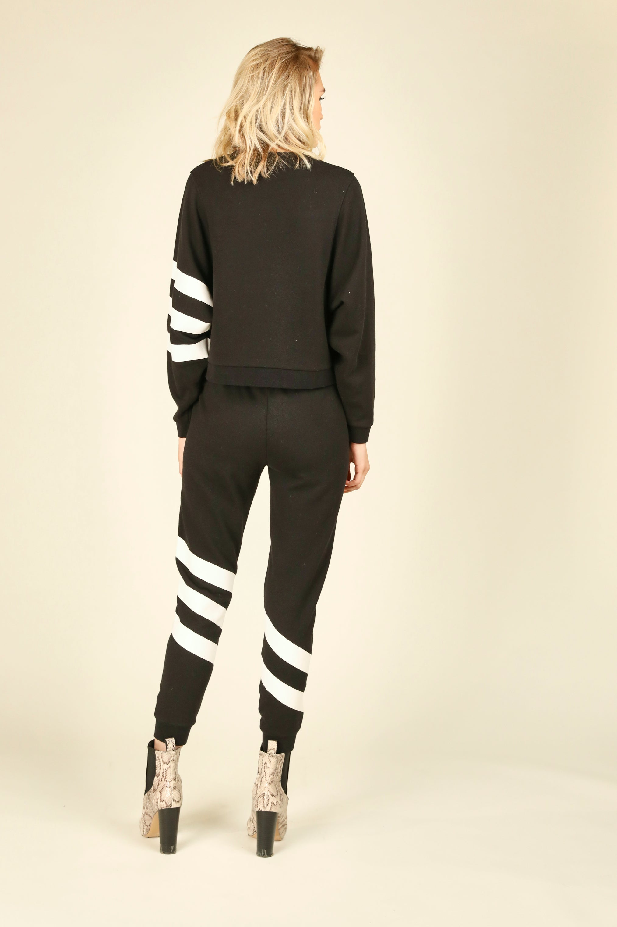 Black & White Stripe Crewneck