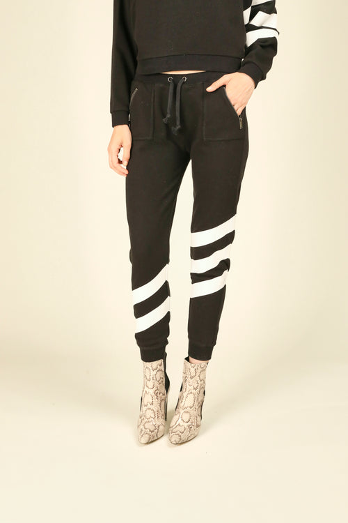 Black & White Stripe Joggers