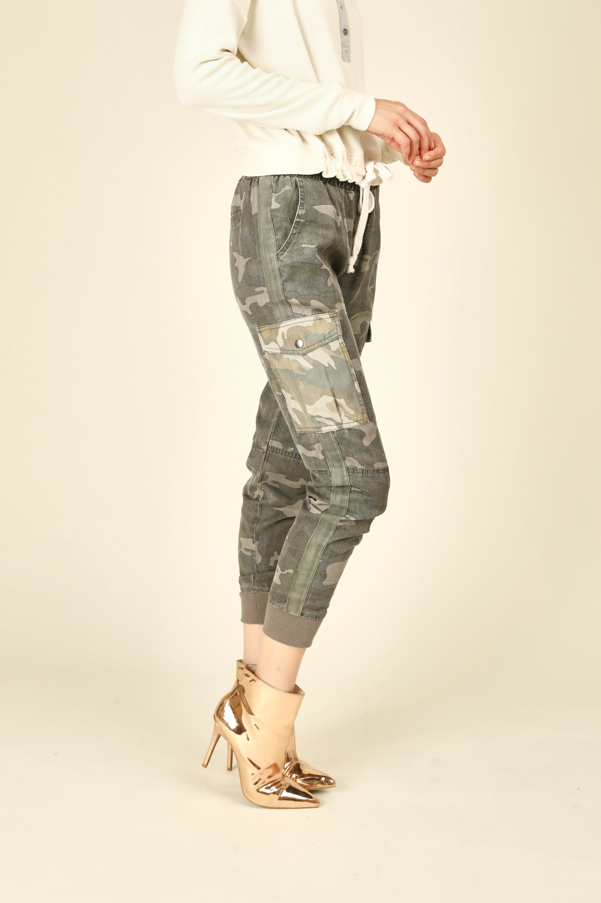 Field Camo Tencel Cargo Pants