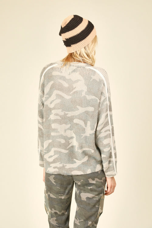 Light Taupe Camo Sweater