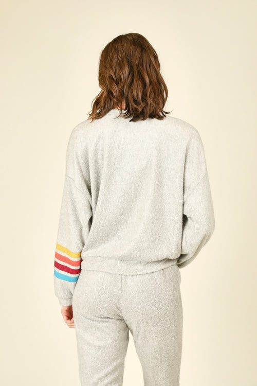"Fuzzy Fleece ""Weekend"" Crewneck"