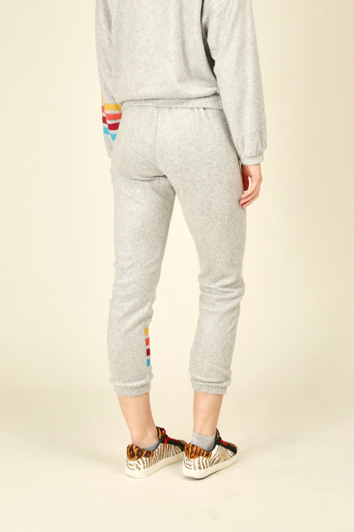 "Fuzzy Fleece ""Weekend"" Jogger"