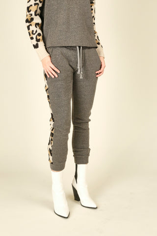 Tan Snake Brushed Hacci Joggers