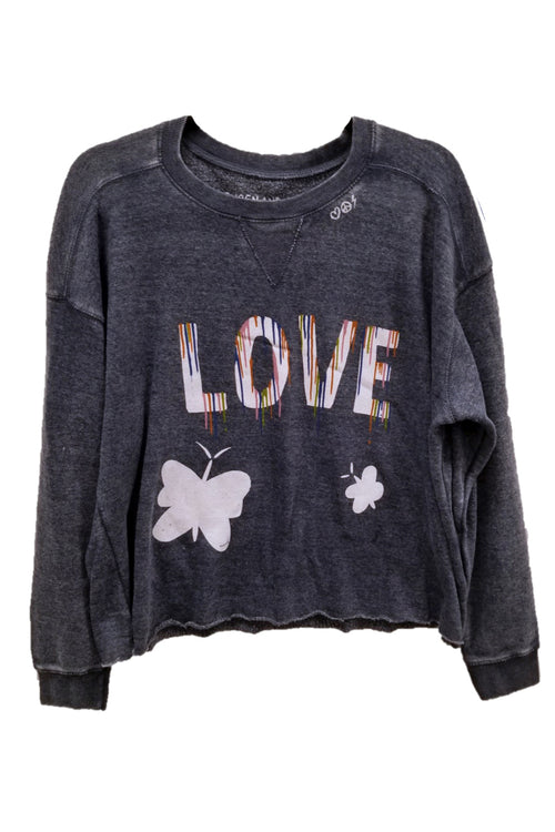 "WREN AND GLORY X VH - NEW BURNOUT ""LOVE"" CREWNECK"