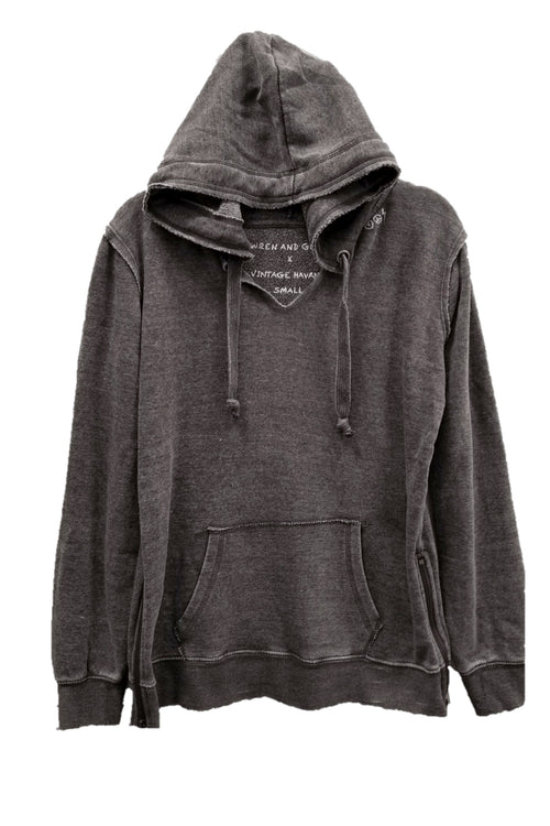 "WREN AND GLORY X VH - NEW BURNOUT ""PEACE AND LOVE YOURSELF"" ZIP HOODIE"