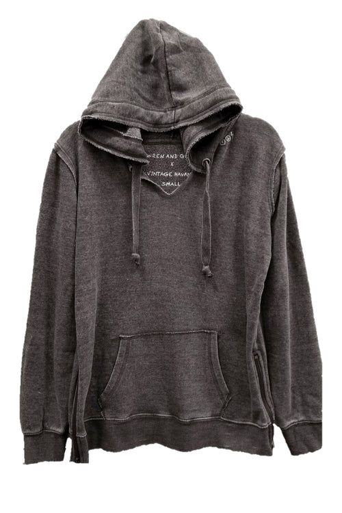 "WREN AND GLORY X VH - NEW BURNOUT ""HEARTS & LOVED"" ZIP HOODIE"