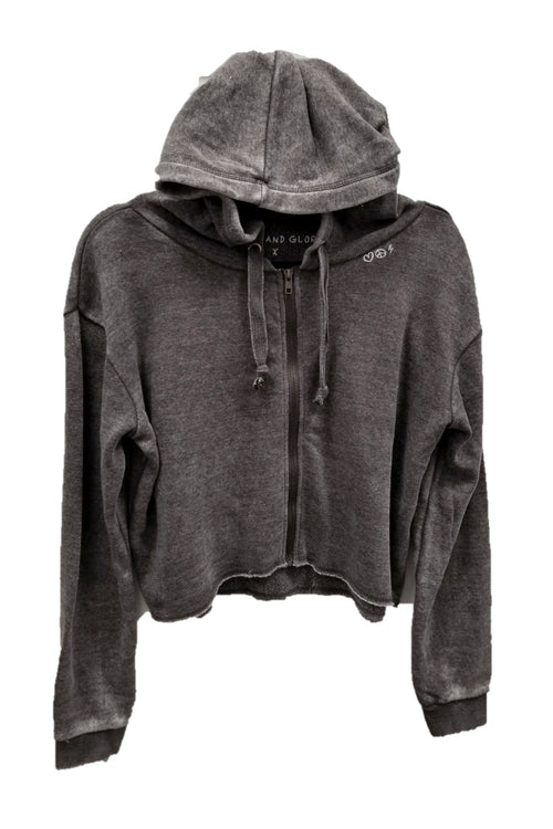 "WREN AND GLORY X VH - NEW BURNOUT ""FLAG"" FRONT ZIP HOODIE"