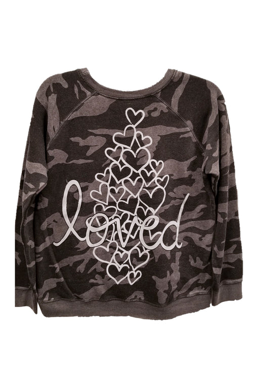 "WREN AND GLORY X VH - NEW BURNOUT ""HEARTS & LOVED"" FLEECE CREWNECK"