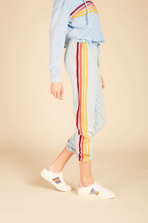 Mineral Washed Multi Stripe Joggers