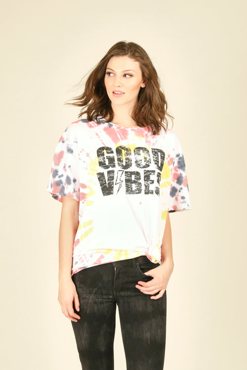 Good Vibes Oversized Tee