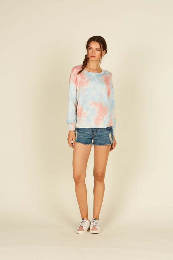 French Terry Tie Dye Top