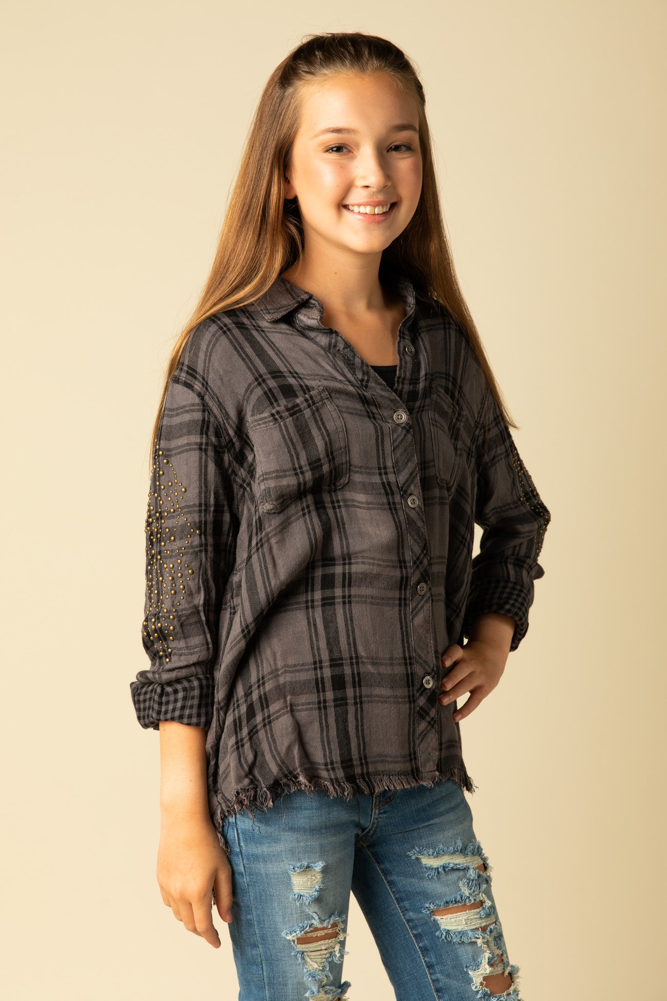 HARPER PLAID BUTTON DOWN