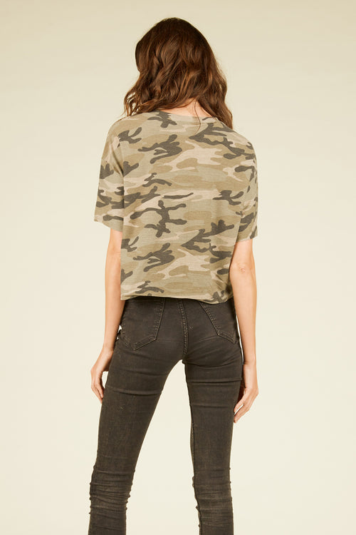 Olive Camo Gold Foil Boxy Tee