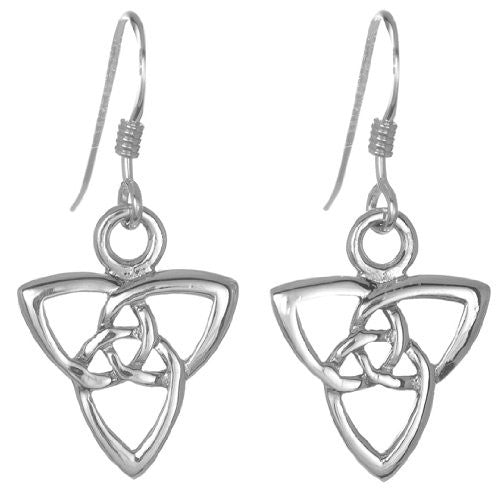 Sterling Silver Celtic weave Drop Ear Rings - Toucan of Scotland