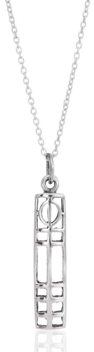 Sterling Silver Rennie Mackintosh Pendant - with 18 inch curb chain in our quality gift box.