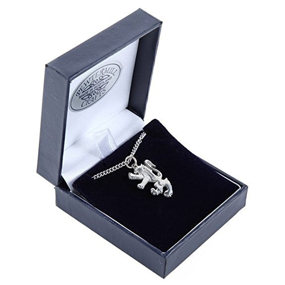 Pewter Rampant lion Pendant and Chain